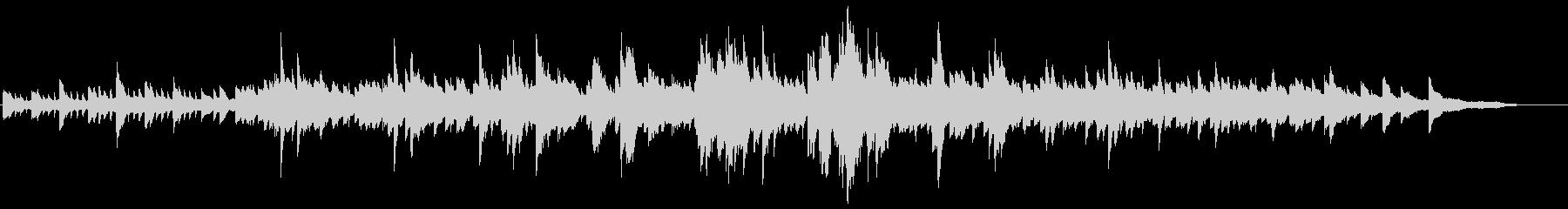 透明感のあるピアノ曲の未再生の波形