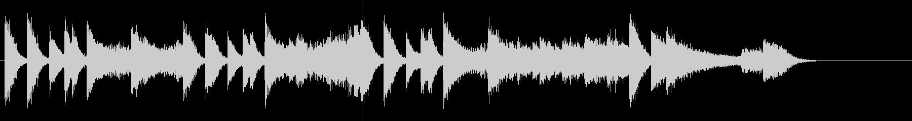 始まりを予感するゴージャスピアノジングルの未再生の波形