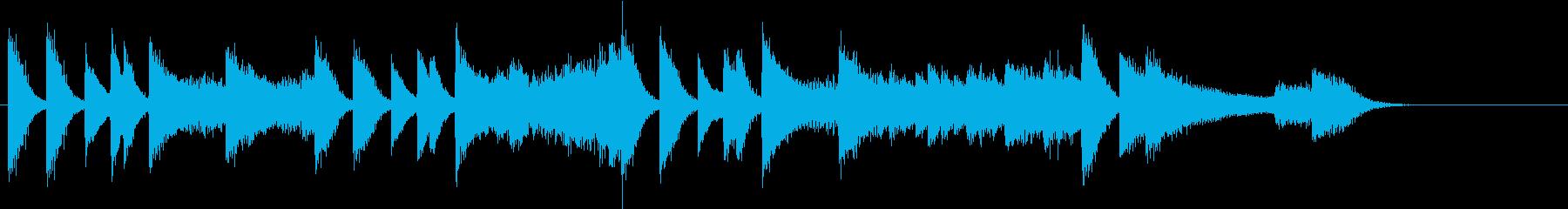 始まりを予感するゴージャスピアノジングルの再生済みの波形