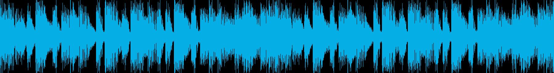 緊迫感緊張感を感じるデジタルサウンドの再生済みの波形