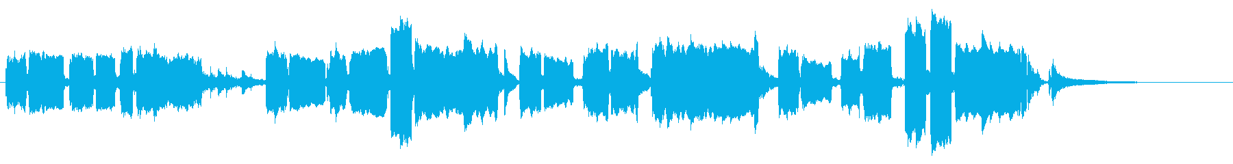 主人公が演奏する悲しいオカリナの旋律の再生済みの波形