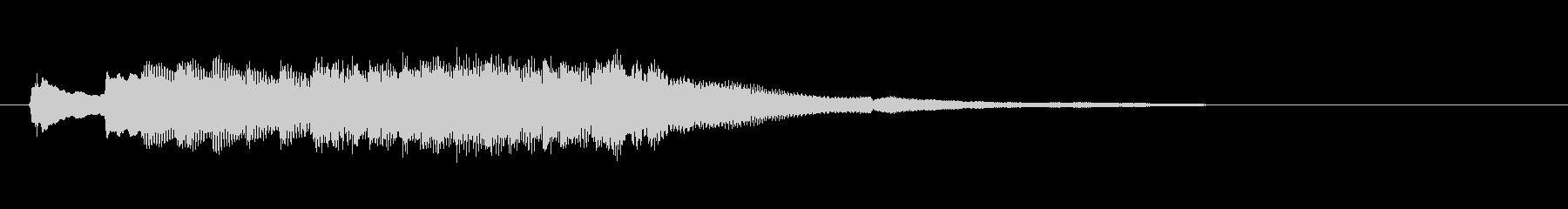 パンフルートとハープのジングルの未再生の波形