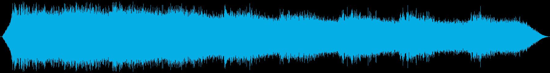 ミンミンゼミの鳴き声 夏のセミの再生済みの波形