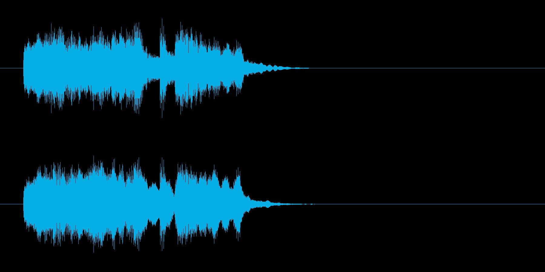 キュー・アタック風アコースティックの曲の再生済みの波形