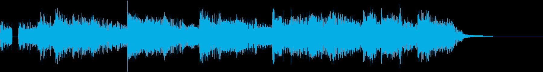 達成感をイメージしたジングル(FM音源)の再生済みの波形