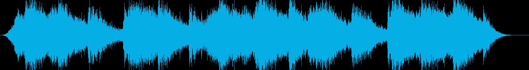 ホラーやサスペンス映画の雰囲気のBGMの再生済みの波形