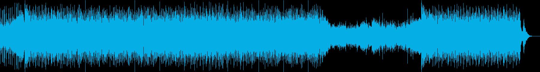 琴と笛とシンセの和風テクノの再生済みの波形
