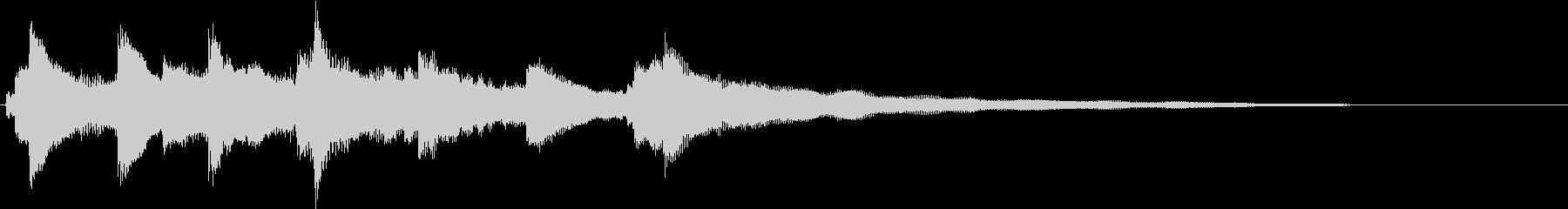 シンプルなピアノ - 爽やかなジングルの未再生の波形