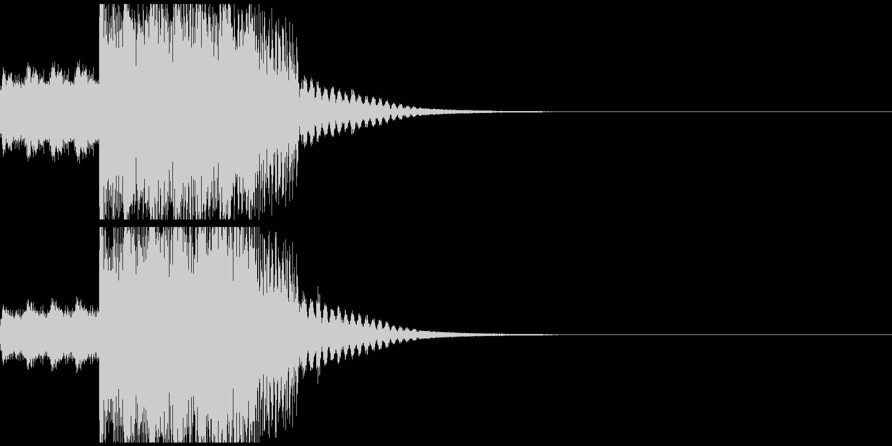 コミカルでポップなジングルの未再生の波形