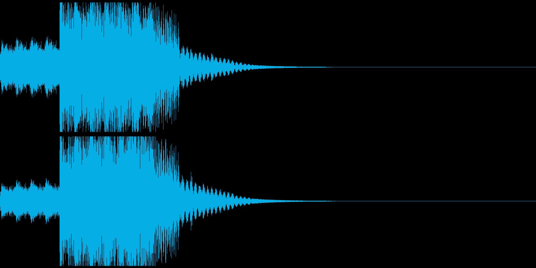 コミカルでポップなジングルの再生済みの波形