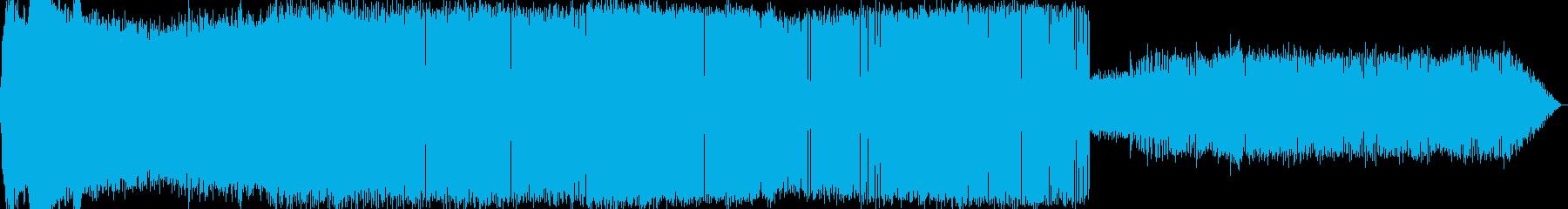 9月中旬の夜に収録した虫の声の再生済みの波形