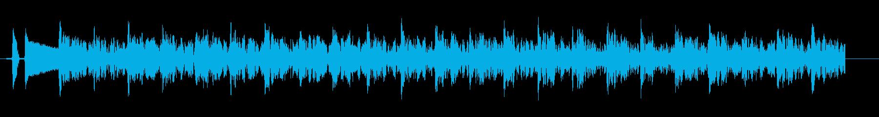発砲音 連射の再生済みの波形