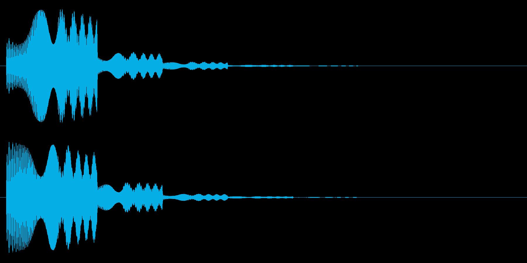 ピュワ・・・の再生済みの波形