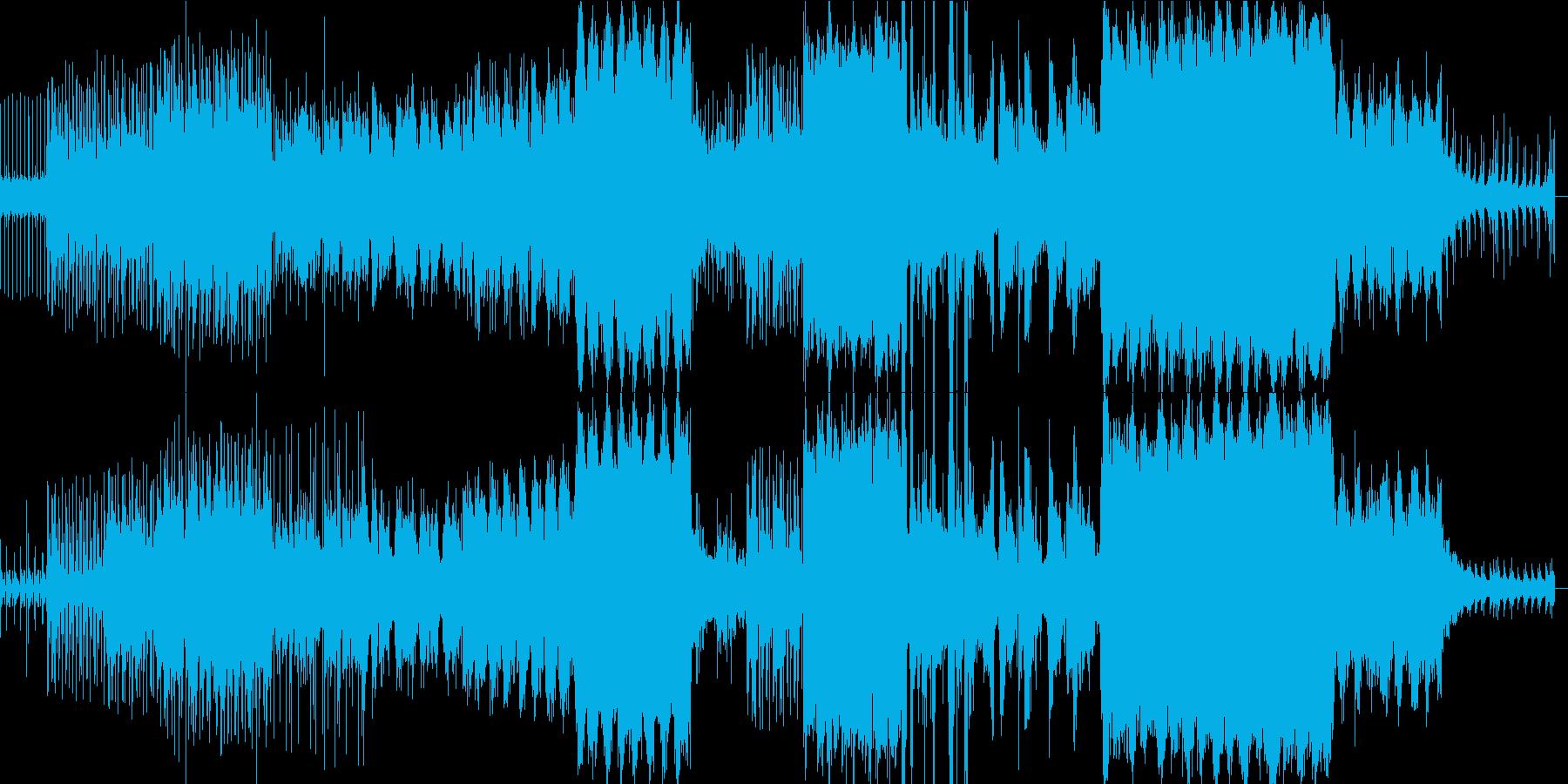 美麗男性ボーカルの憂いあふれる曲の再生済みの波形