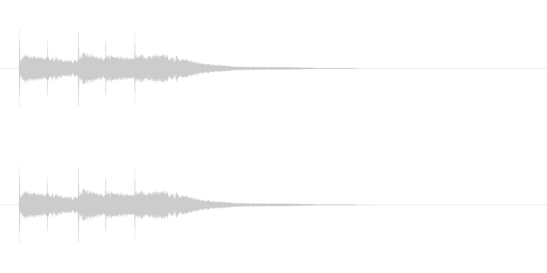 【競技用ゴング01-4】の未再生の波形
