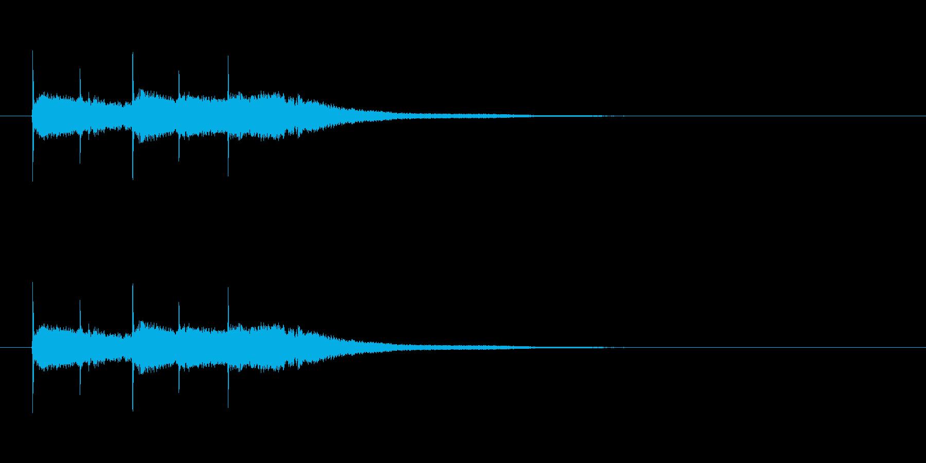 【競技用ゴング01-4】の再生済みの波形