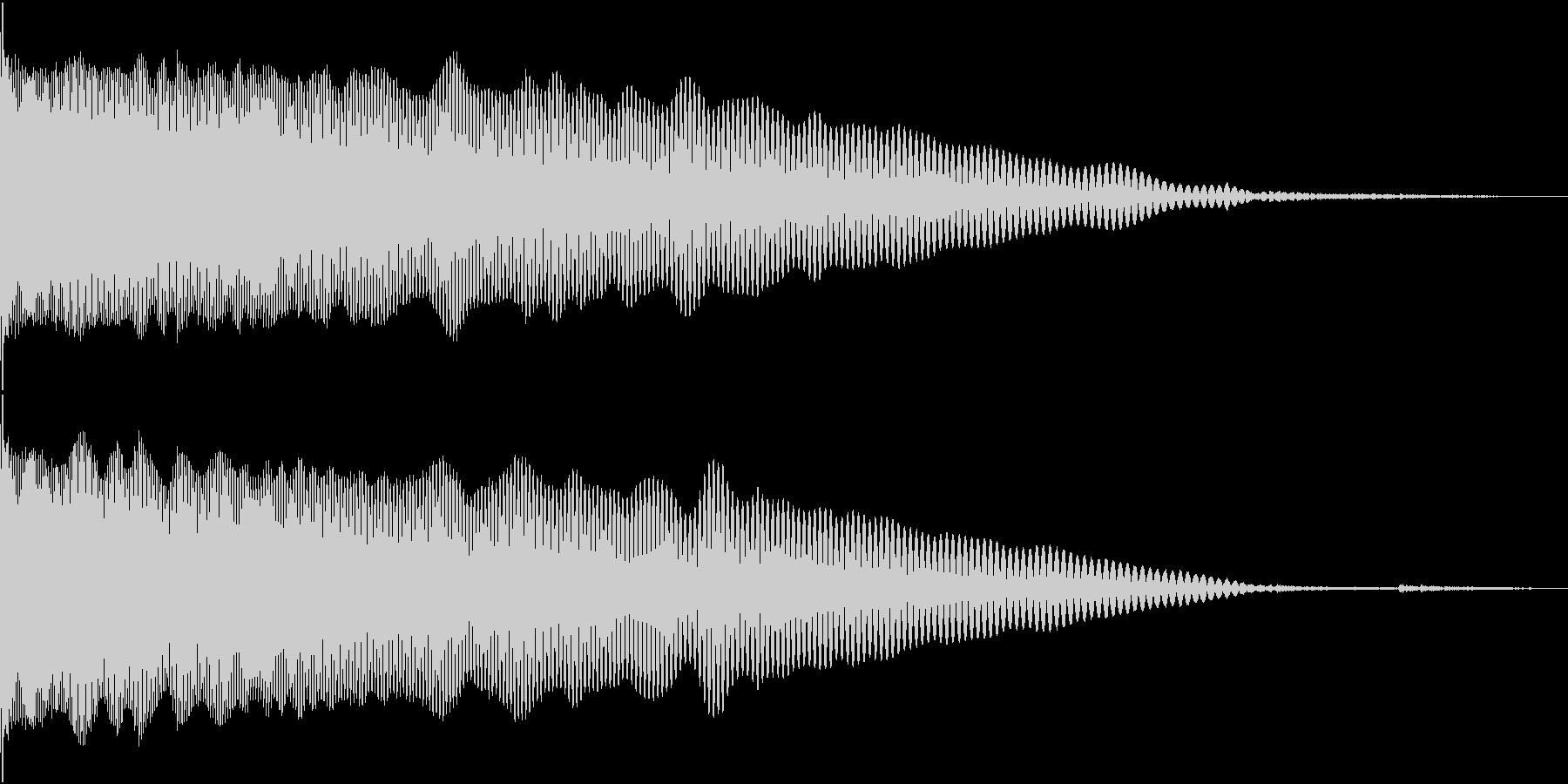 キック音 ブーンの未再生の波形