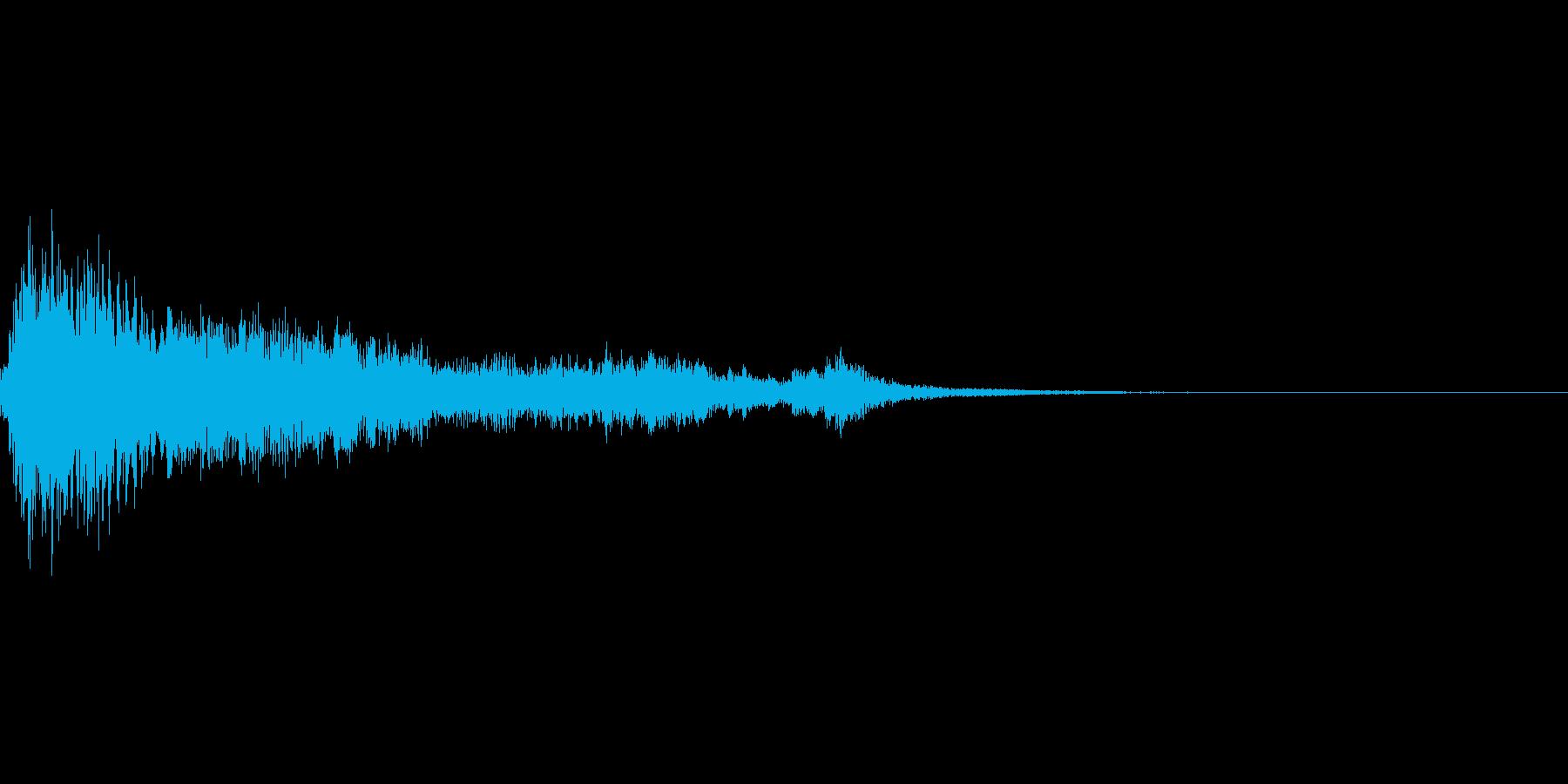 キュイーンと気づく音の再生済みの波形
