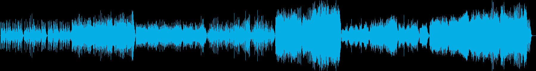美しく感動的なピアノ演奏曲の再生済みの波形