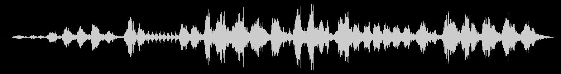 モスケミソサザイのさえずりの未再生の波形