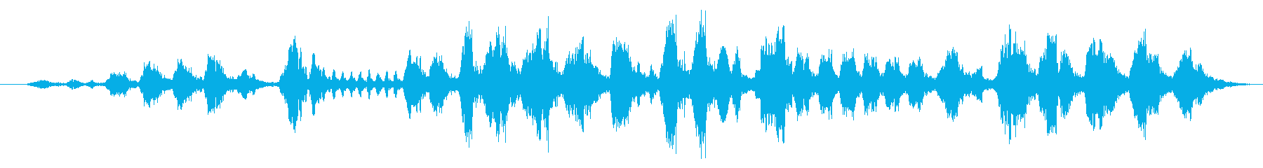 モスケミソサザイのさえずりの再生済みの波形