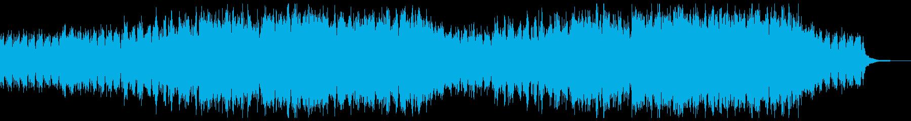 静かに始まる上品なピアノストリングスの再生済みの波形