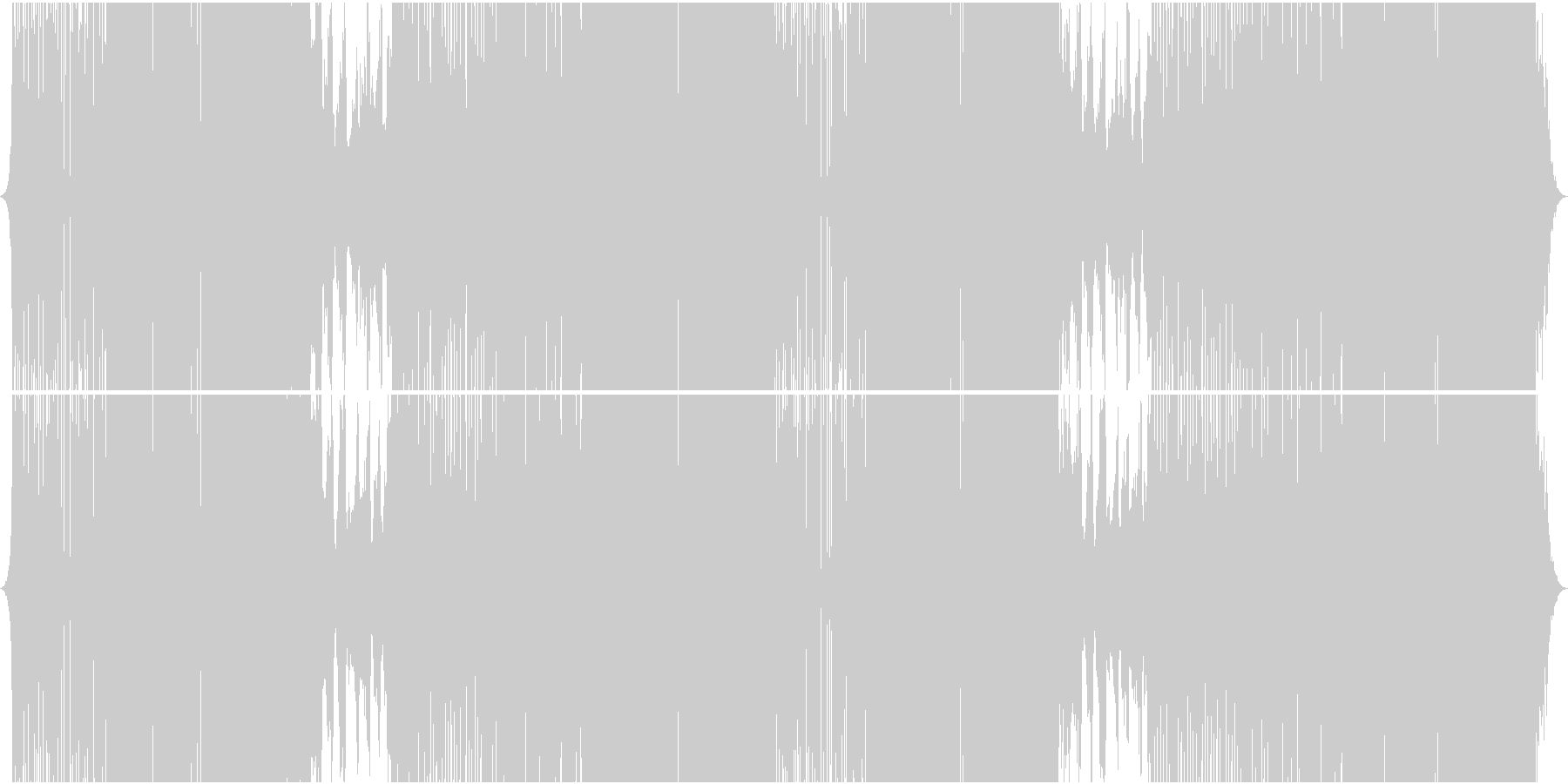 シャッフルビートでパワー系EDMの未再生の波形