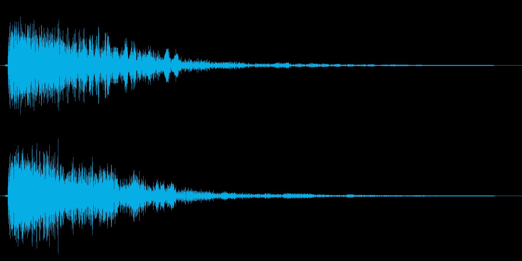 コミカルなダッシュ,ジャンプ効果音!9bの再生済みの波形