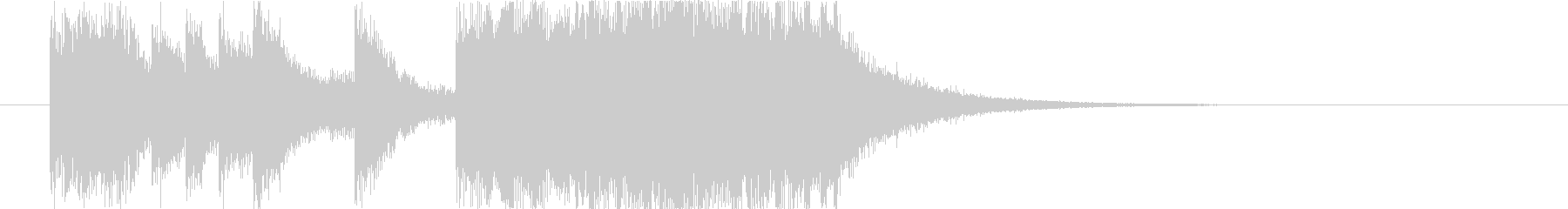 派手なオーケストラ風ファンファーレの未再生の波形