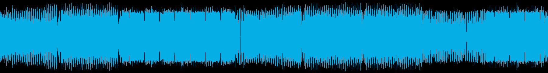 エモーショナルで華やかなEDMループの再生済みの波形