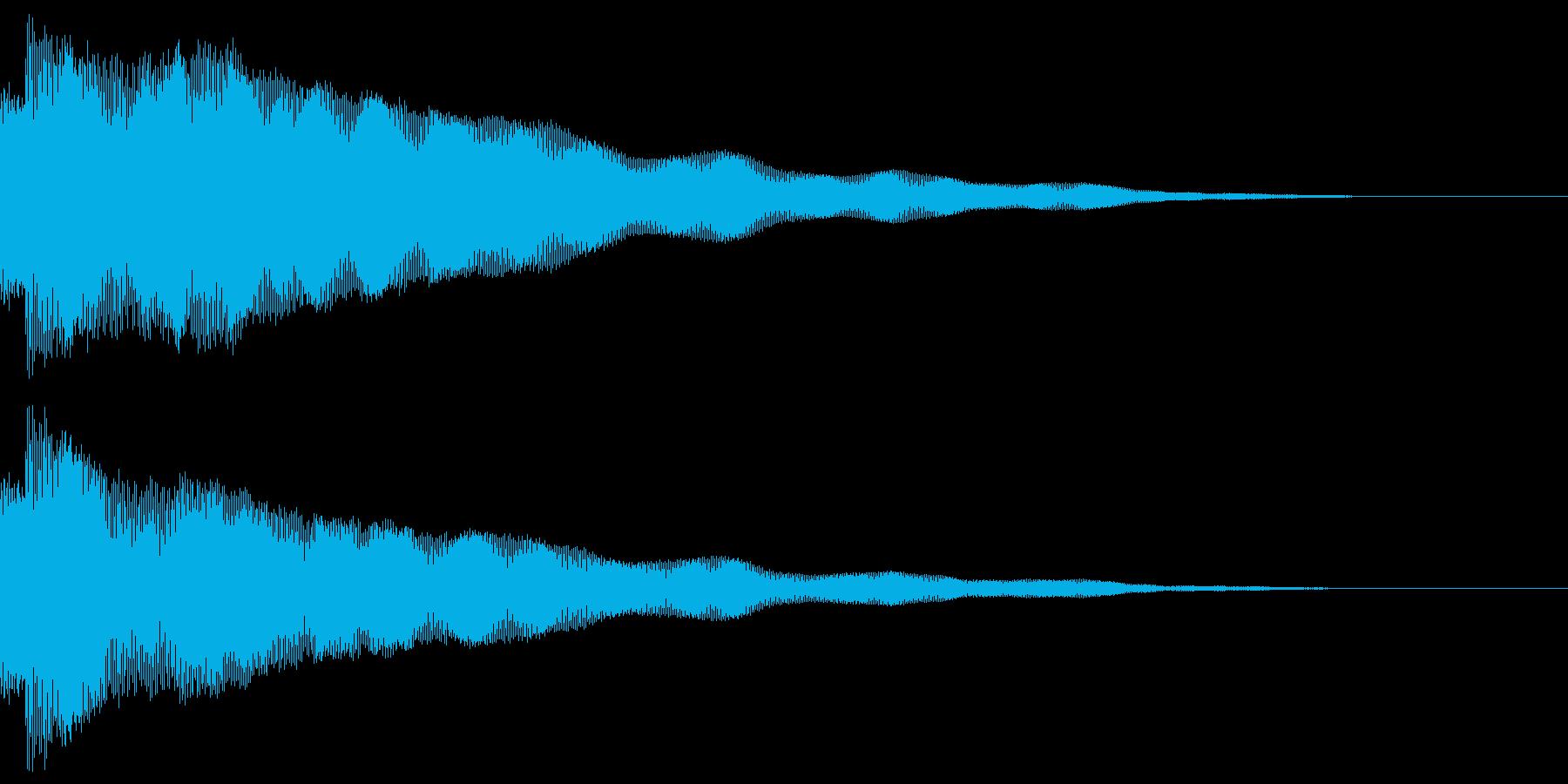 疑惑、不安などをイメージした擬音です。の再生済みの波形