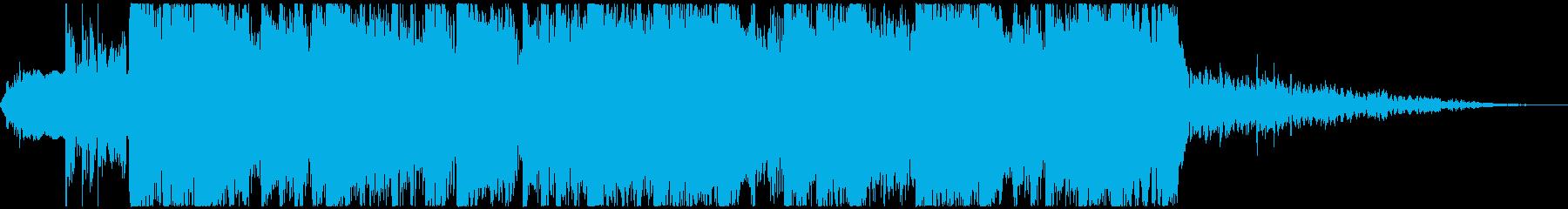 力強く爽やかなデジタルビート(15秒)の再生済みの波形