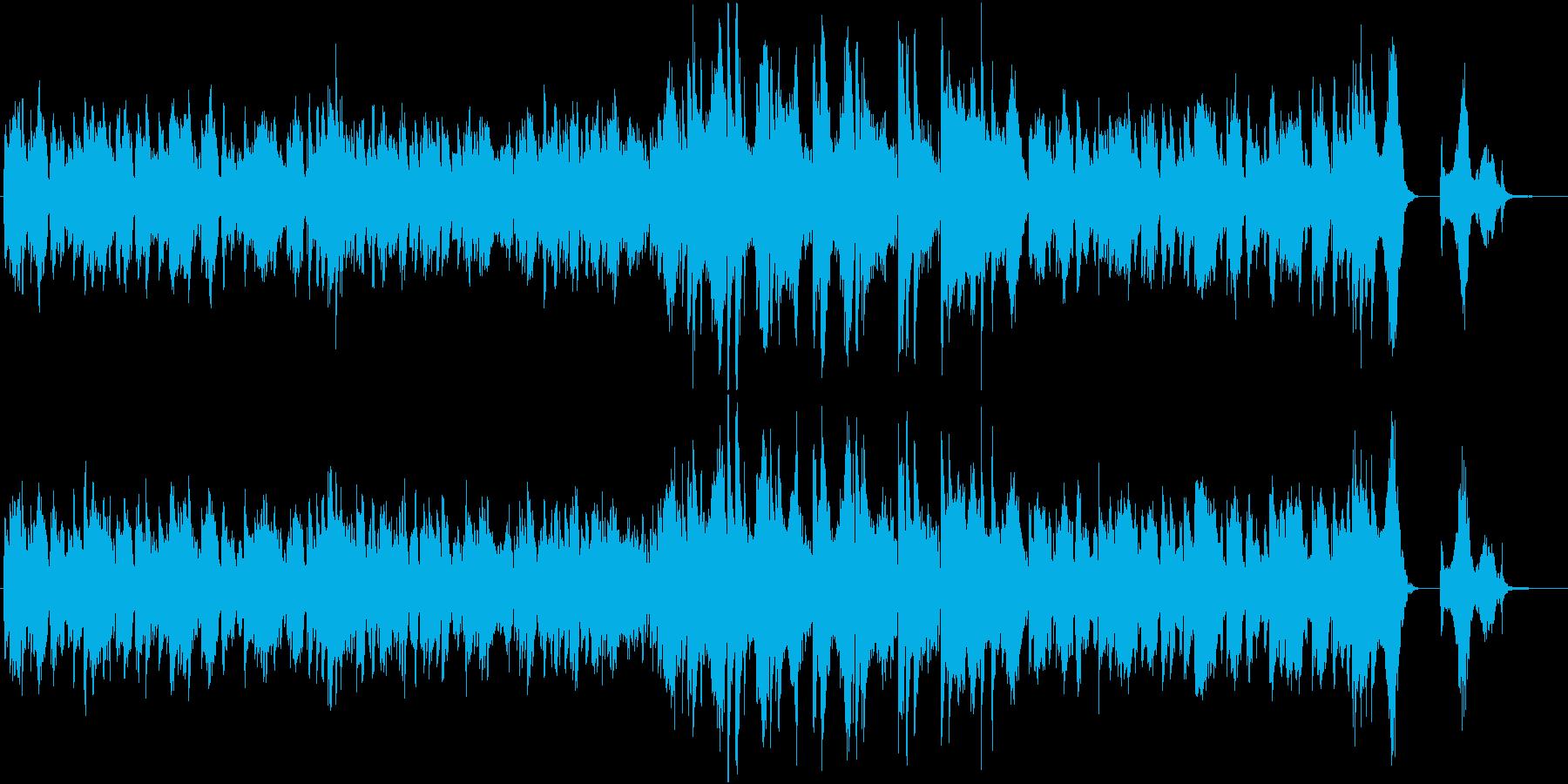 哀愁たっぷりなヴァイオリンとピアノBGMの再生済みの波形