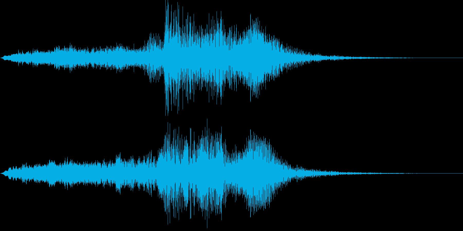 音楽ロゴ;弦楽器による劇的なオーケ...の再生済みの波形