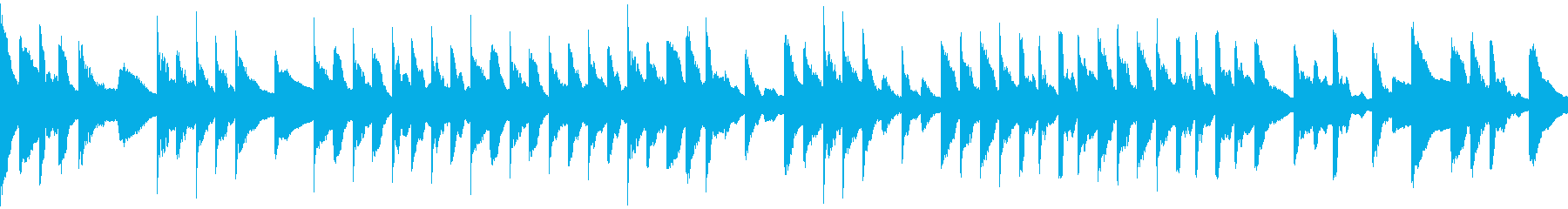 スローテンポでミステリアスなピアノ曲の再生済みの波形