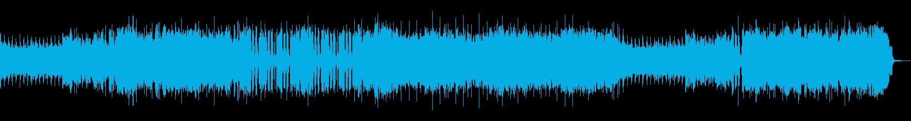 ロックンロールなリフの再生済みの波形