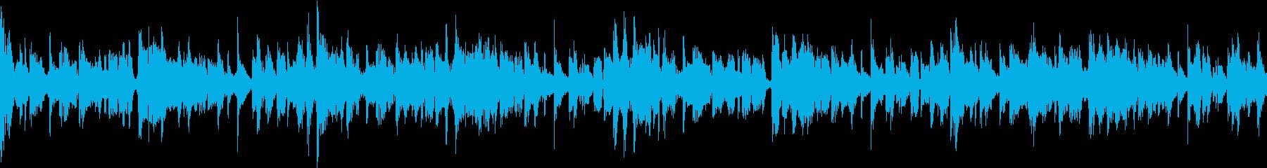 アップテンポなループ用BGMの再生済みの波形