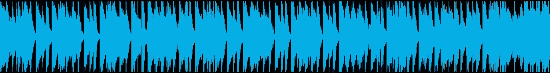 穏やかなアコースティックポップ(ループ)の再生済みの波形