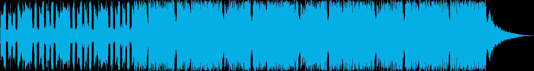 登場、オープニングシーン ディスコ調の再生済みの波形