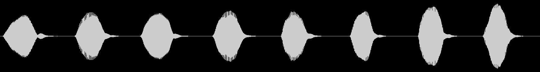 ドレミファソラシド 上昇 アルトリコーダの未再生の波形