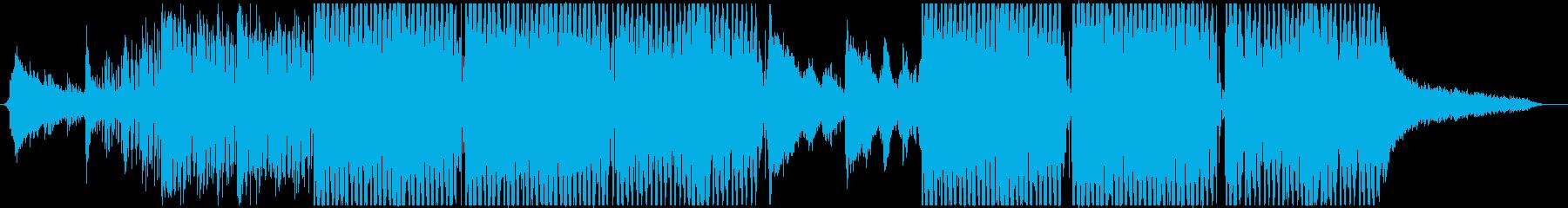 サイバーパンク・宇宙的なシーンで2の再生済みの波形