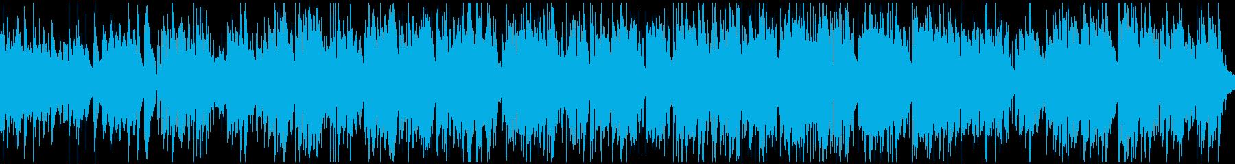 バリトンサックス生演奏のジャズ※ループ版の再生済みの波形