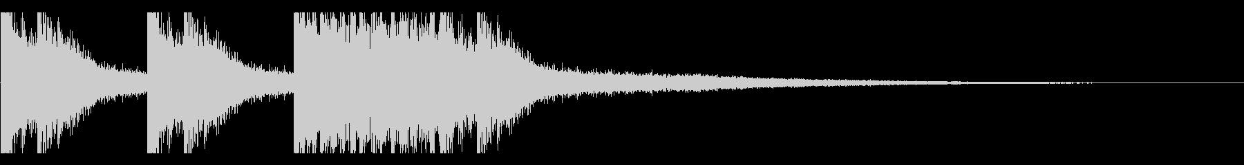 太鼓1 スネアロール ジングルの未再生の波形