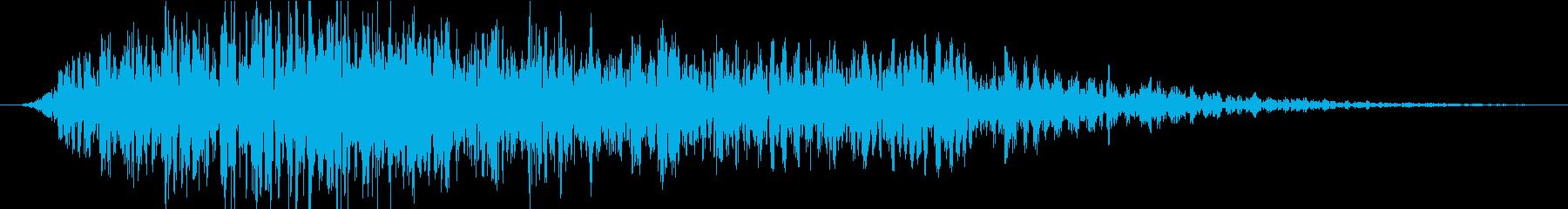 怪獣、モンスター、化け物等の唸り声の再生済みの波形