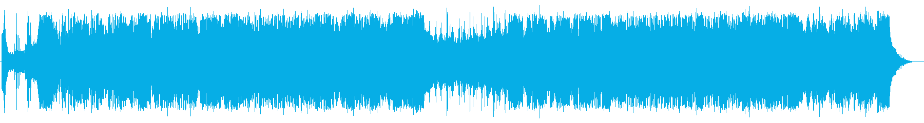 迫力あるボス・シネマティック楽曲の再生済みの波形