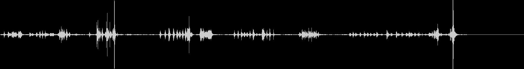 メタル、ムーブメント;波打つ金属は...の未再生の波形