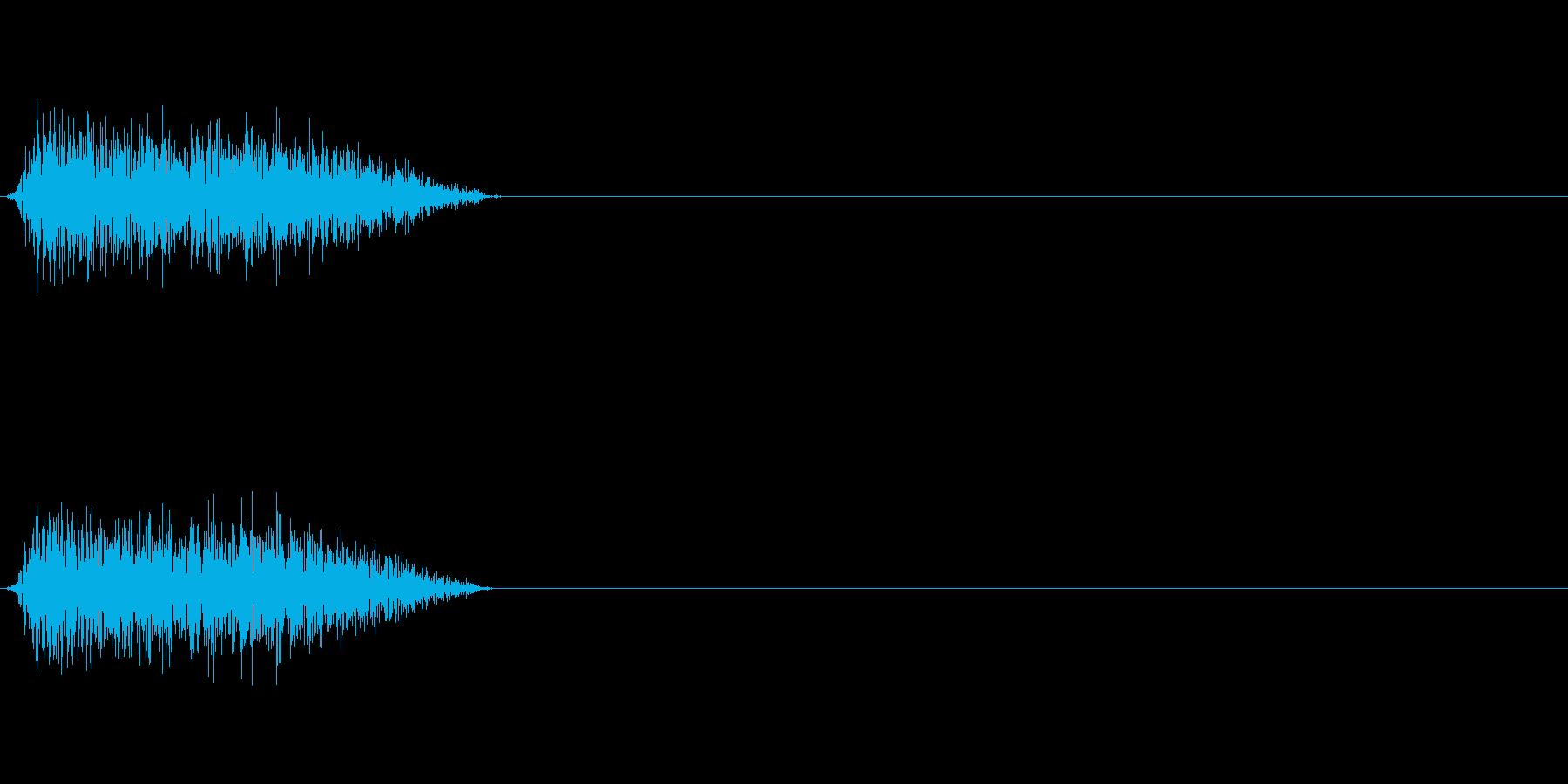 シュー 斬撃音の再生済みの波形
