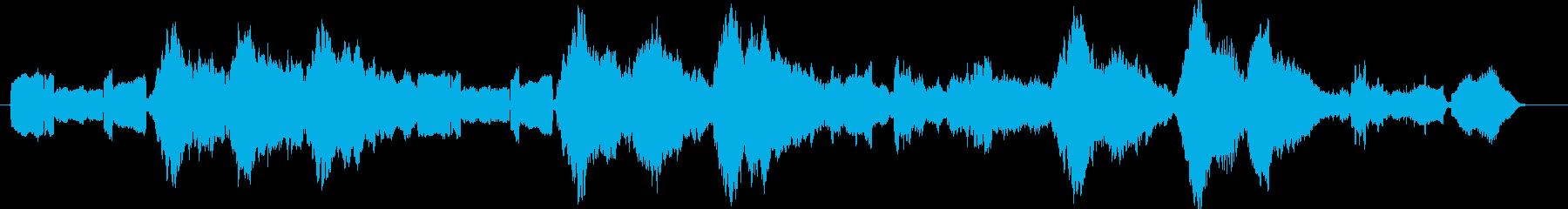 ゆったりのどかで懐かしいBGMの再生済みの波形