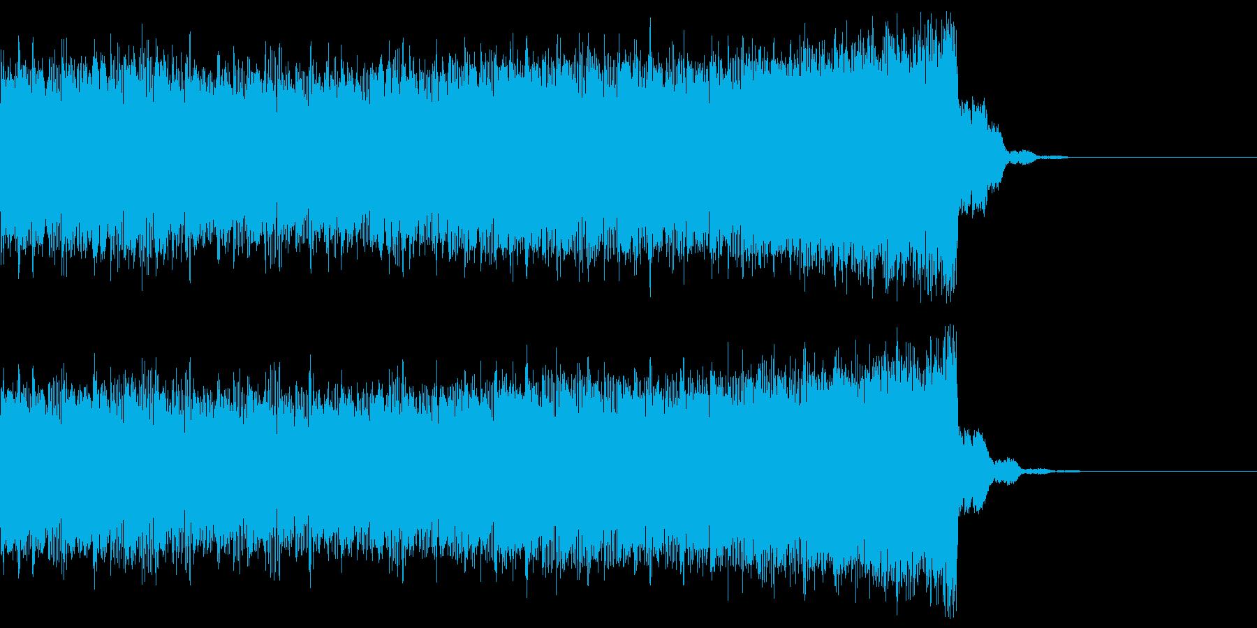 デジタル、CG、SFX等の映像ショート⑮の再生済みの波形