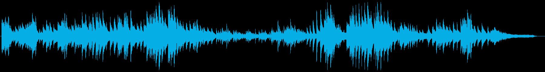 大人な雰囲気あるピアノソロ曲の再生済みの波形